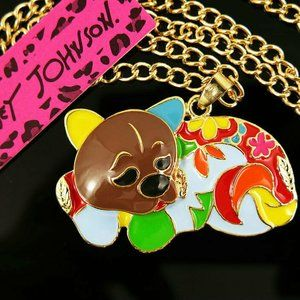 Necklace- NEW- Betsey Johnson Colorful Kitty Cat